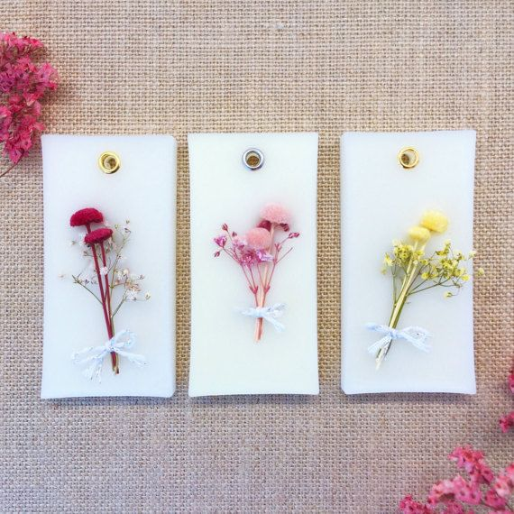 Set 3  Scented Wax Tablets w/ Dried Flowers for by DFlowerBoutique