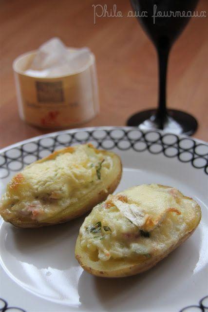 Pommes de terre farcies au Brillat-Savarin