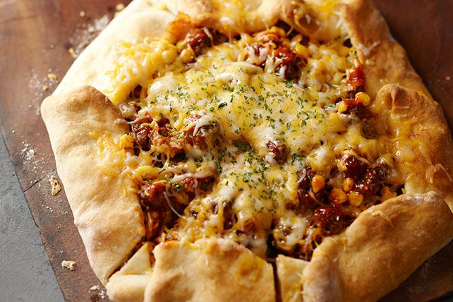 All-purpose baking mix makes a quick and easy crust for this cheesy ground beef…