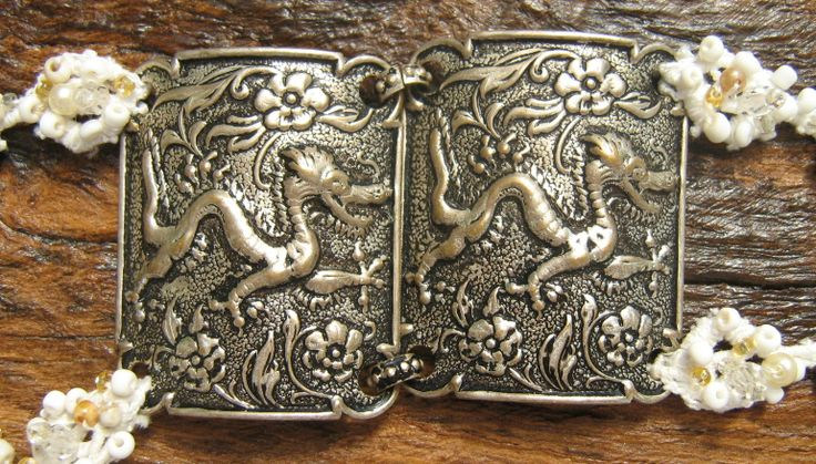 Close up of the dragons by https://www.facebook.com/pages/Beloved-Vintage-Bridal-by-Jacq-Brill/119683038049034