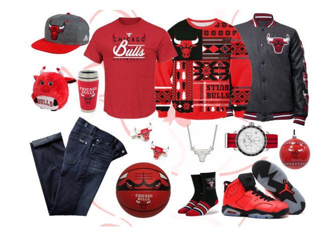 """""""Chigago bulls fan gift dream-set"""" by eddythebeard ❤ liked on Polyvore featuring The Memory Company, Stance, adidas, Tissot, Hunter Manufacturing, LogoArt, 7 For All Mankind, Cufflinks, Inc., INC International Concepts and men's fashion"""