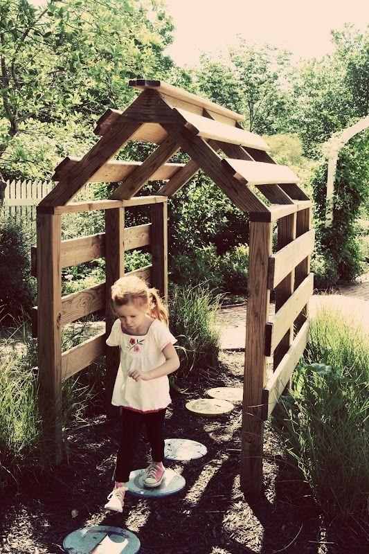 A few old pallets used in a garden--love it!...