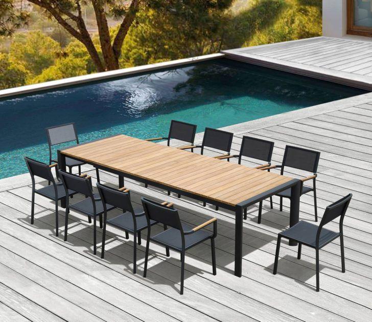 Interior Design Salon De Jardin En Aluminium Salon Jardin Electra En Alu Anthracite Et Teck Places Alum Outdoor Tables Transforming Furniture Outdoor Furniture