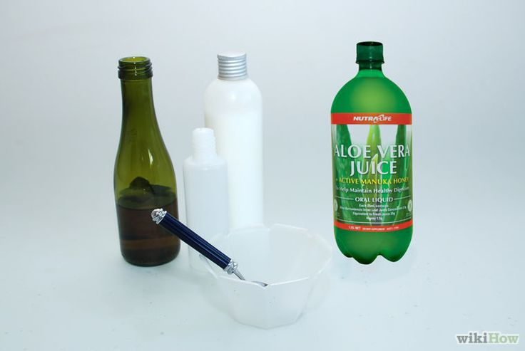 DIY shampoo using only four ingredients: liquid Castile soap, vegetable oil, aloe Vera gel, and glycerin ........by wikihow.com