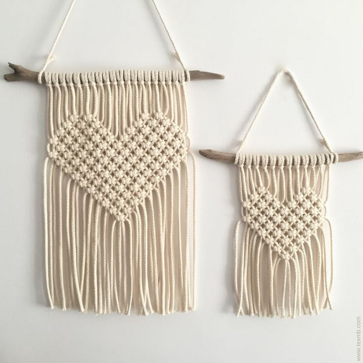 Mini Macrame wallhanging. Original designed by TEX MB. See more: www.texmb.com