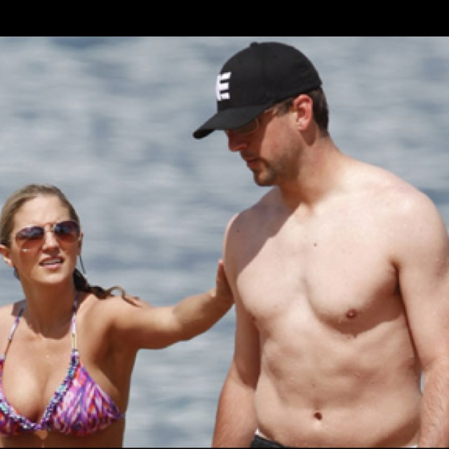 Aaron Rodgers and his gf!