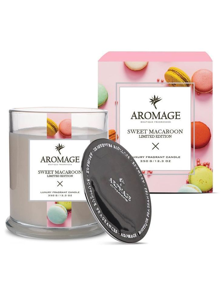Aromage Luxury Fragrant Candle - Sweet Macaroon