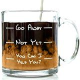 Go Away Funny Glass Coffee Mug 13oz - Unique Christmas Present Idea for a Mom, Dad, Husband, Wife, Boyfriend, Girlfriend - Best Office Cup & Birthday Gag Gift for Coworkers, Men & Women, Him or Her - http://tonysgifts.net/go-away-funny-glass-coffee-mug-13oz-unique-christmas-present-idea-for-a-mom-dad-husband-wife-boyfriend-girlfriend-best-office-cup-birthday-gag-gift-for-coworkers-men-women-him-o/