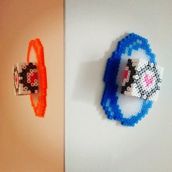 Portal 2 Companion Cube Fridge Magnets by GoodGollySir on Etsy