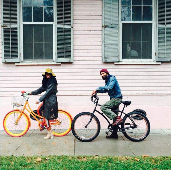Bikes With Bae   - The Most Amazing Photos of Solange and Husband Alan Ferguson's Sweet Love