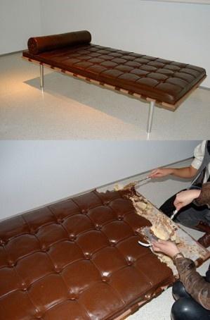 An eatable sofa 7-4: Fun Recipes, Beds, Chocolates Cakes, Chocolate Couch, Food, Amazing Cakes, Chocolates Couch, Crazy Cakes, Birthday Cakes