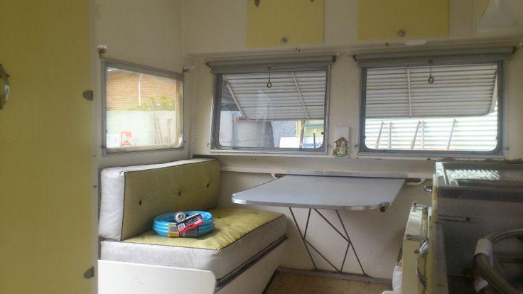 Simple, pretty Original interior, 1963 Valiant   Australian Vintage Caravan
