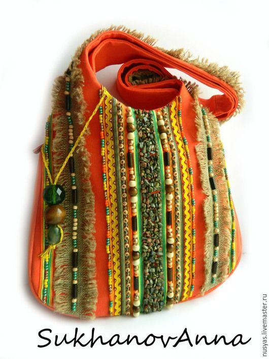"""Женские сумки ручной работы. Ярмарка Мастеров - ручная работа. Купить Сумка """"Хиппи"""". Handmade. Рыжий, хиповая сумка"""