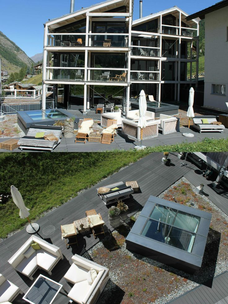 Hotel Matterhorn Focus | Design Hotel | Switzerland | http://lifestylehotels.net/en/matterhorn-focus | Exterior View | Design | Garden | Alps