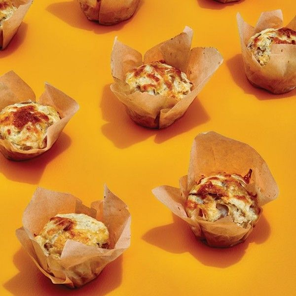 Muffins take a step toward the dinner table tonight! Smoky cheese and caramelized onions make them an amazing side everyone will love.