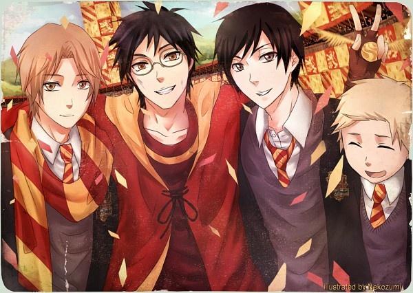 HP anime style Harry Potter/Anime Style Pinterest