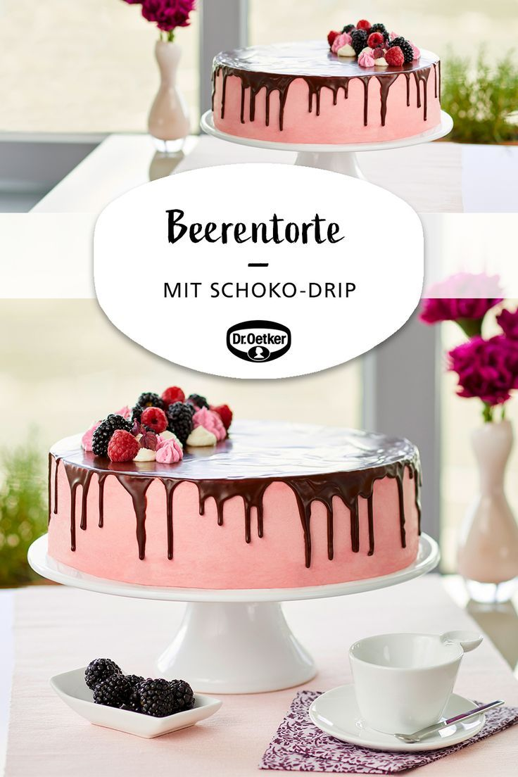 Eine cremige Torte mit Himbeeren und Brombeeren für große Feste #coffee bar # …   – Rezepte: Kuchen & Torten