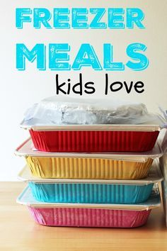 Freezer Meals Kids Love   Life as Mom - Looking for freezer meals kids love? I've got you covered. These freezer meals will please the kids AND save you time and money.  http://lifeasmom.com/freezer-meals-kids-love/