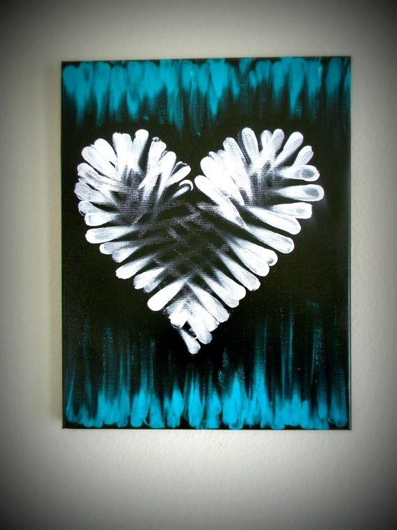 Touch of Heart Canvas by LifesAcanvas on Etsy, $25.00