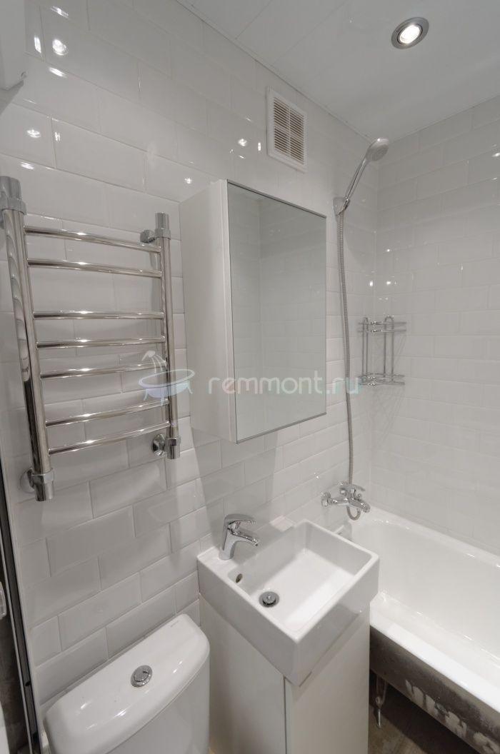 Ремонт маленькой ванной комнаты 120х180: Санузел в доме серии II-18/9 после ремонта