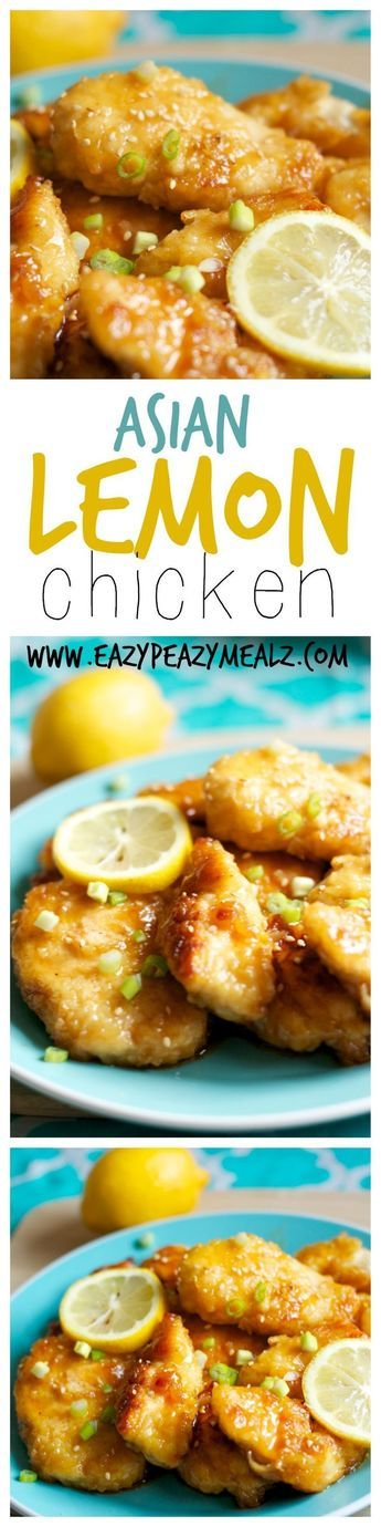 Asian Lemon Chicken: This will become a staple in your dinner rotation. So much flavor, and way better than take-out! - Eazy Peazy Mealz