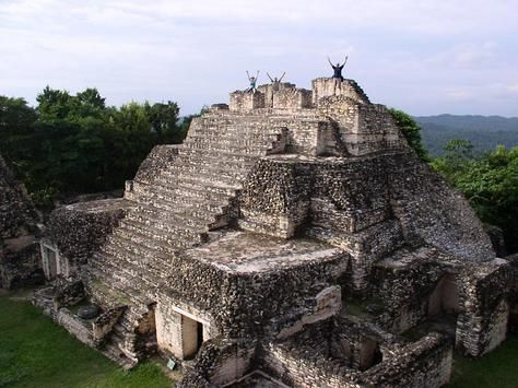 The largest structure in the Mayan site of Caracol, Belize.  I spent a semester in college doing archaeology here.