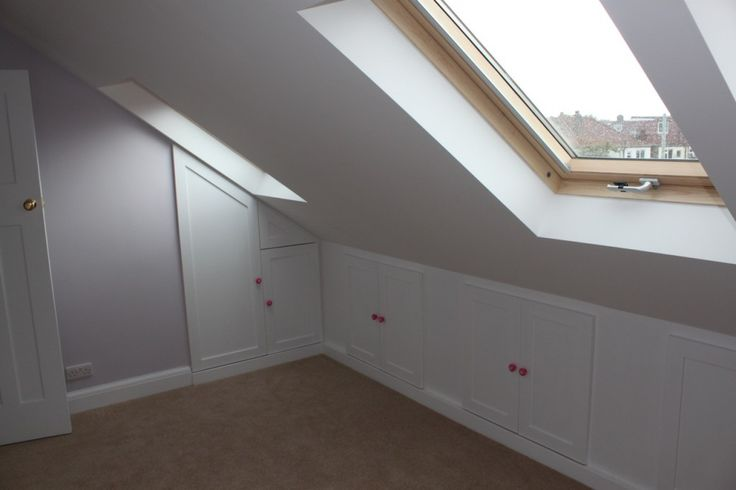 Ask your builders about storage ideas for your loft for Eaves bedroom ideas