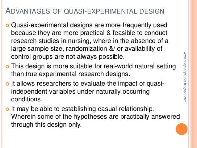 quasi experimental design definition pdf