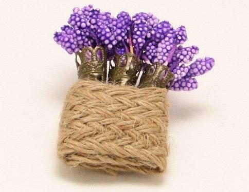 $18 Lavender brooch on burlap https://www.etsy.com/listing/237477060/vintage-purple-flower-brooch-lavender