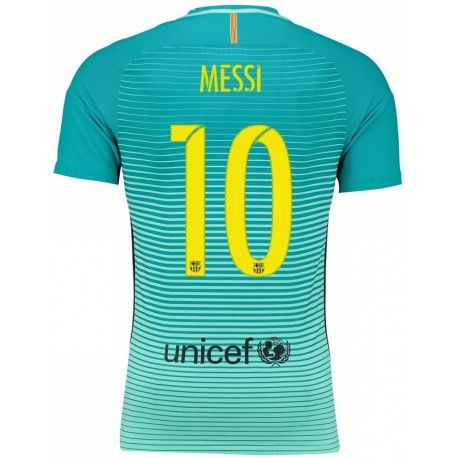 Maillot Barcelone MESSI Third 2016 2017 Officiel. Flocages Personnalisés Disponibles.