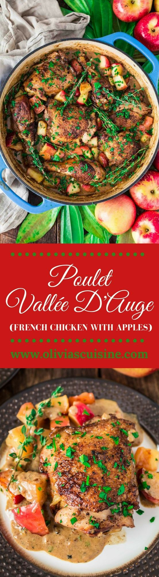 This Poulet Vallée D'Auge - a French classic - is proof that autumn's favorite fruit is good for more than pies and works great in savory dishes too. #SweeTangoSociety AD