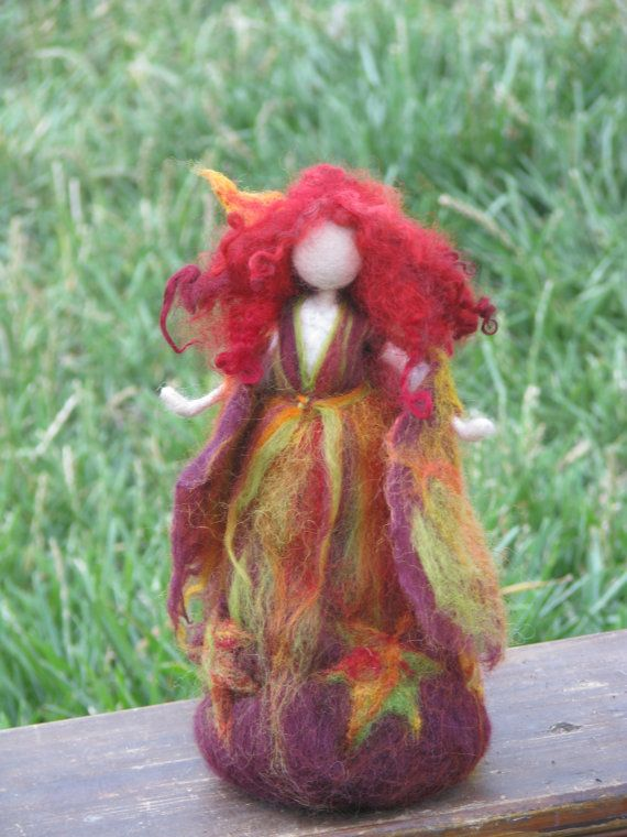 Needle felted Waldorf inspired Autumn Fall Fairy by Made4uByMagic