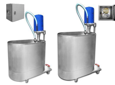 TURBION DE EXTREMIDADES PARA HIDROTERAPIA - Variedad de tamaños; -45 litros. -60 litros -90 litros -120 litros. -140 litros. -210 litros. En acero inoxidable calidad AISI 304. Turbina eyectora deslizable en su centro y altura regulable. Incluye pistón para tratamiento localizado y desagüe rápido / Regulador del torbellino de agua.Rodante. Incluye transformador de aislación y automático