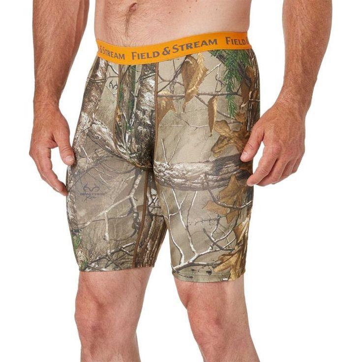 Field & Stream Men's Boxer Briefs – 2 Pack, Size: Medium, Brown