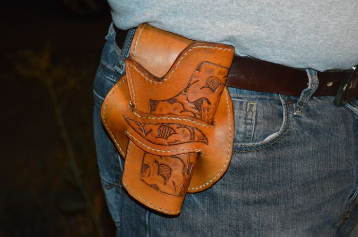 Decorative Leather Holster for 1911 handgun by WestonLeathercraft on Etsy