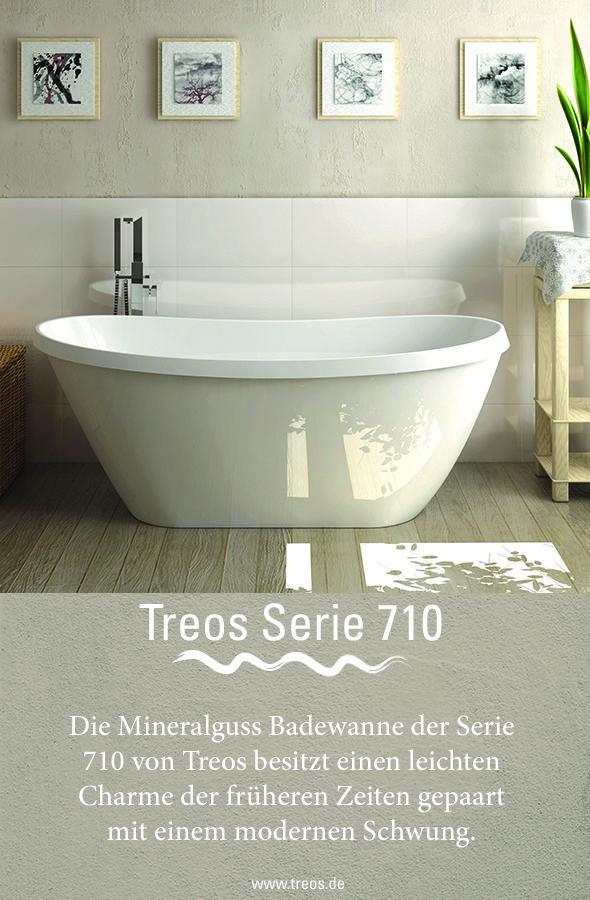 Die Mineralguss Badewanne Der Serie 710 Von Treos Konnte In Dem