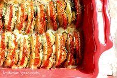 Tian de pommes de terre, tomates, courgettes et mozzarella   Invitations gourmandes