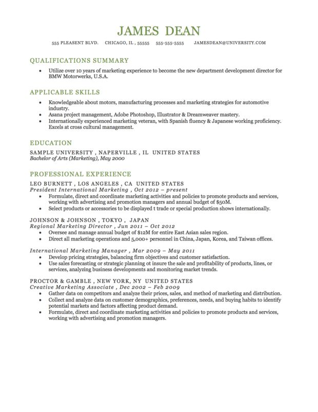example of a functional resume format for more resources visit httpresumegenius