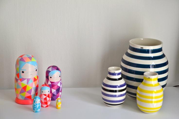 Vaser fra Kähler og babushka dukker
