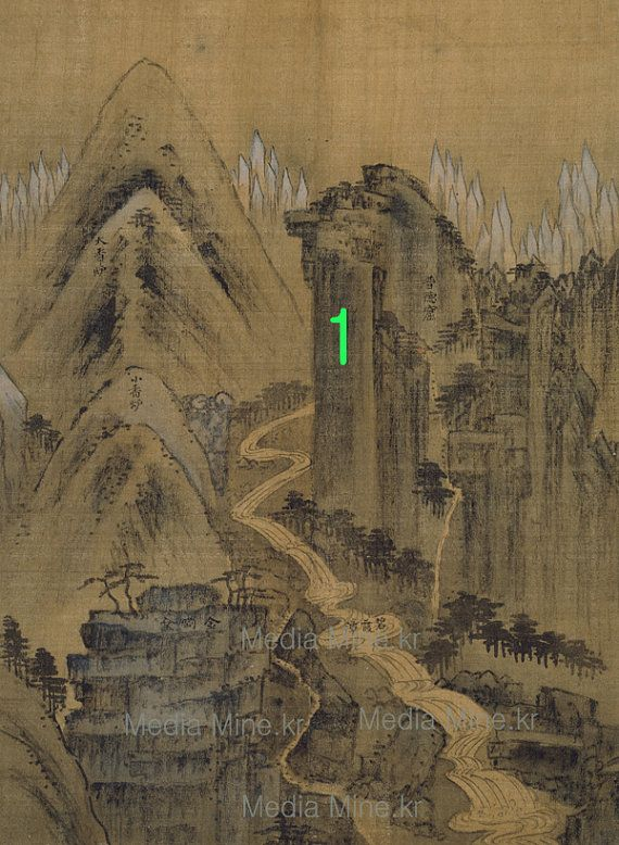 Asian Fine Art Print-Mountain Geumgang-Order-MadeBUY 2 GET 1