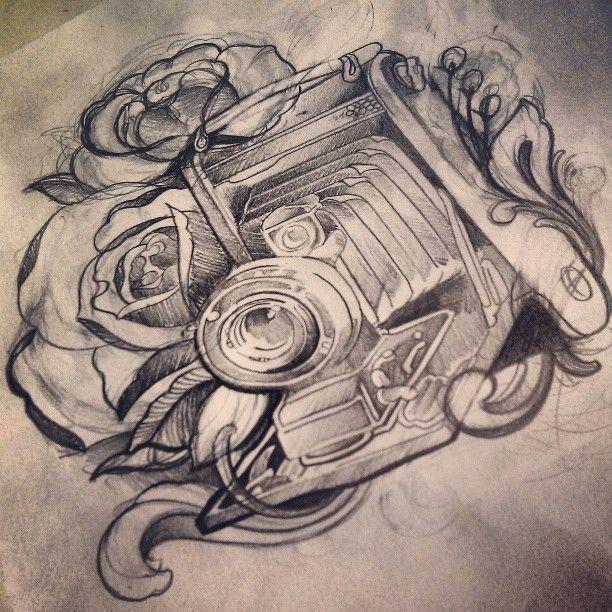 Camera Line Drawing Tattoo : Best vintage camera tattoos ideas on pinterest