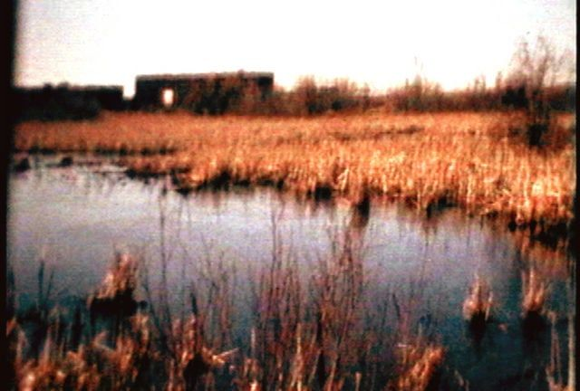 6:07 minutes/experimental/2000  Original format: Super 8, 16mm, video    A psychic's prediction of impending disaster underlies this experimental meditation set on the marshes of Sackville, New Brunswick.  Shot on Super 8, 16mm and video, Marshlands moves elliptically from a present steeped in memory to an uncertain future.     Distributed by:  V-Tape  401 Richmond St. suite 452  Toronto, Ontario  CANADA M5V 3A8  (416) 351-1317  www.vtape.org     Screenings:  Cinérail: 12th International…
