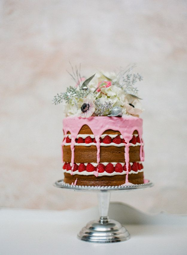 This one, which looks like a party in cake form. | 24 One-Tier Wedding Cakes That Prove That Less Is More