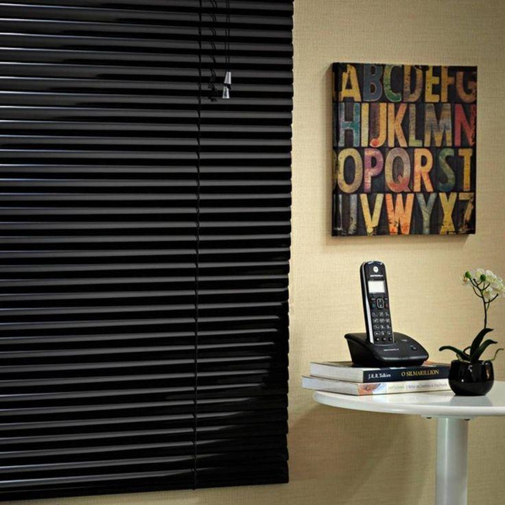 persiana horizontal preta nova - decoração leroy merlin