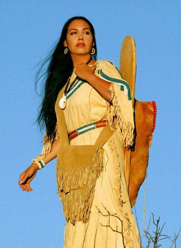 Can Beautiful teen native american indian women touching
