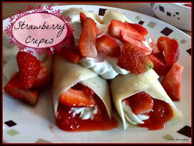 Sweet Crepe Filling: 1/2 package cream cheese 1/2 cup powdered sugar 1/2 tbsp vanilla 1/2 cup heavy whipped cream