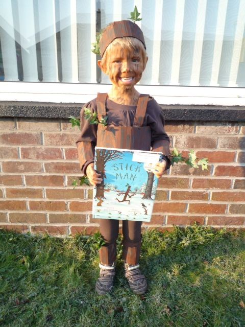 Possibly the most adorable Stick man costume for #worldbookday