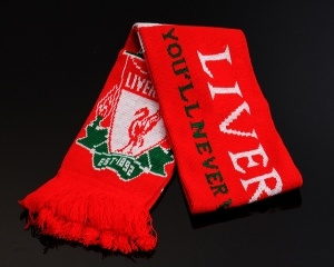Liverpool Soccer Scarf Red With White