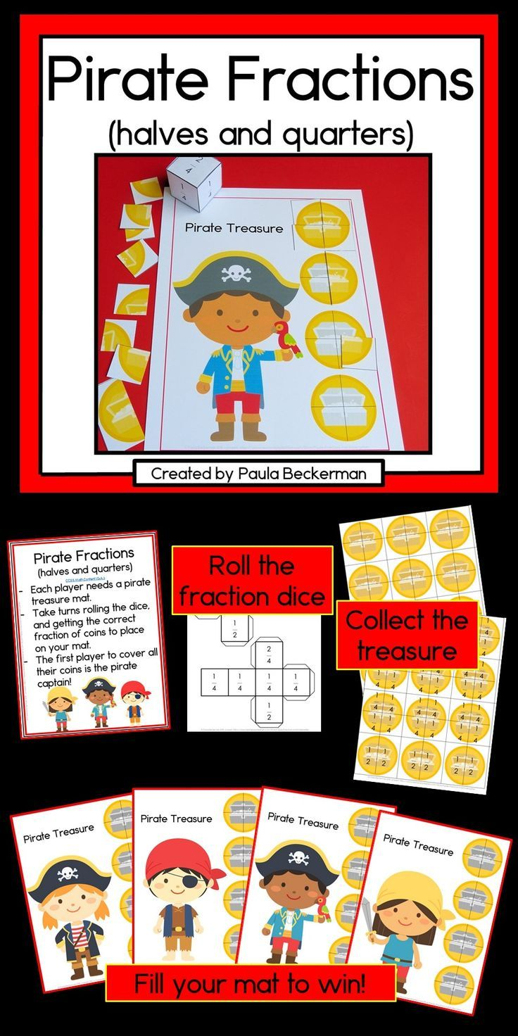 Pirate Fractions Game Fraction Games Fractions Pirate Classroom [ 1472 x 736 Pixel ]