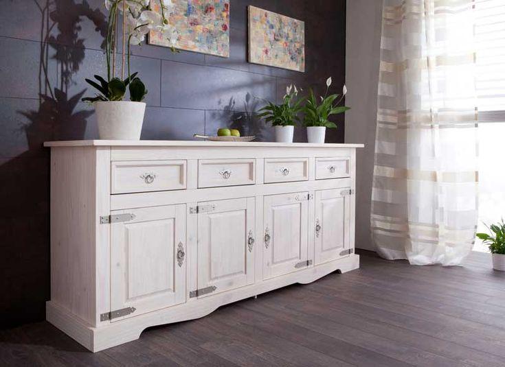 25+ parasta ideaa Pinterestissä Sideboard Weiß Holz Wohnwand - sideboard für wohnzimmer